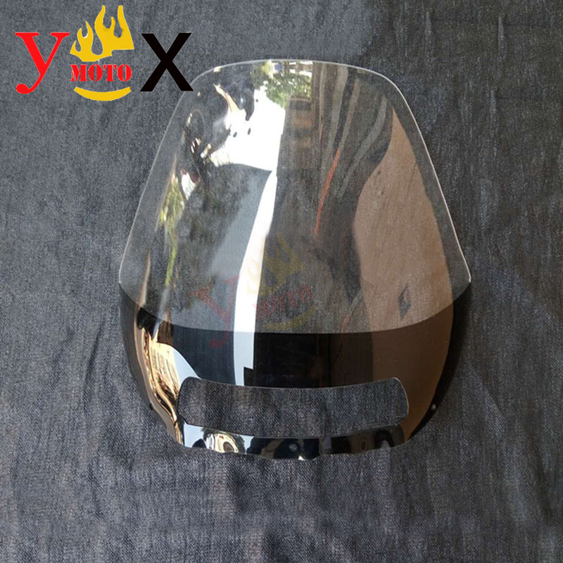 Touring Motorcycle Clear 4MM Windshield Windscreen Front Deflector Airflow For HONDA PC800 Pacific Coast Highway