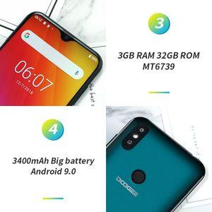 "Image 4 - อัพเกรด 32GB ROM DOOGEE Y8 Android 3GB RAM 9.0 สมาร์ทโฟน 6.1 ""FHD 19:9 จอแสดงผล 3400mAh MTK6739 4G LTE Waterdrop หน้าจอ"