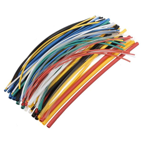 Hot sale 70 pcs Flame Retardant Durable 7 Color Assorted Colors Ratio 2:1 Polyolefin Heat Shrink Tubing Tube Kits