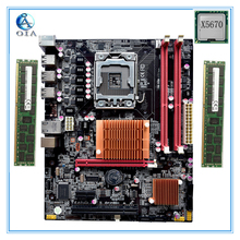 New motherboard x58  with X5670 CPU+8G(4G*2) RAM 6*USB2.0 port support ecc ram  LGA 1366 DDR3 ATX mainboard  free shipping