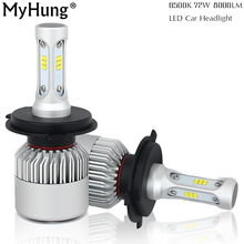MyHung Newest S2 LED Headlight Kit H4 9007 9004 Led Auto Car Hi/Lo Beam Lamp Automobile Bulb Car Accessories Free Shipping