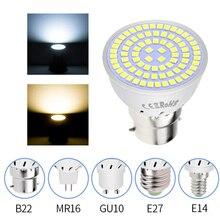 GU10 Led Bulb E27 LED Corn Lamp 220V Spot Light MR16 Spotlight Bulb SMD 2835 E14 Bombillas Led 3W 5W 7W Ampul 48 60 80leds 240V e27 5w 400lm 6500k 16 smd 2835 led white light bulb white silvery grey ac 220 240v