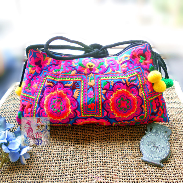 National Trend Handmade Fabric Embroidery Embroidered Bags Shoulder Messenger Bag Day Clutch In From Luggage On Aliexpress