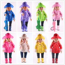 b83b3261fd5 Doll Clothes for Dolls  3 Piece Rain Outfit - Includes Rain Jacket