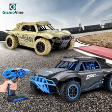 GizmoVine Remote Control Short Car 1/18 Truck 4WD 25KM/H High Speed Drift RC Short-Course Racing Toy For Kids Gift