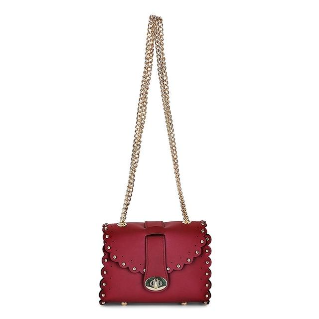 Guapabien Fashion Women Chain Bag Brand Rivet PU Leather Shoulder Bag Girls' Small Messenger Crossbody Phone Bags Flap Satchel