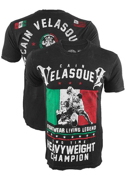 Man Short Sleeve T Shirt Cain Velasquez Mma Fight Tops