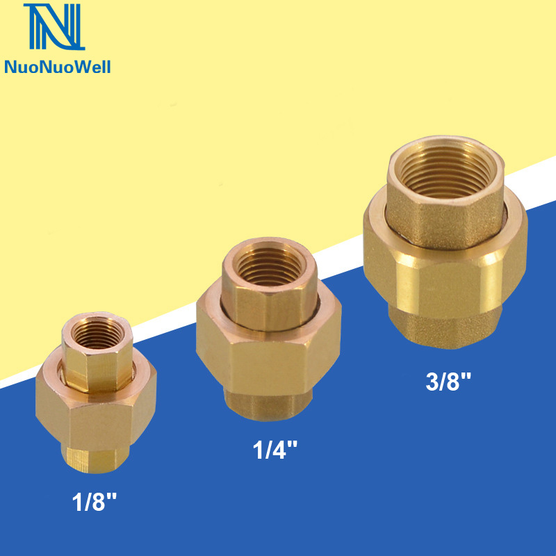 Nuonuowell 2pcs Brass Pipe Union Connector Coupling 1 8 1 4 3 8 Bsp Female Plumbing Fittings Equal Diameter Coppers Joint Buy At The Price Of 8 24 In Aliexpress Com Imall Com