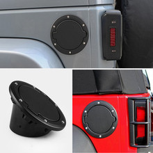 YEAHGOOD Tank Covers for Jeep Wrangler JK 2007-2017 Car oil Cap Fuel Tank Cap Cover for Jeep Wrangler Accessories Car Styling shineka zinc alloy abs base fuel tank cover gas cap cover oil filler 2 4 door for jeep wrangler jk 2007 2016