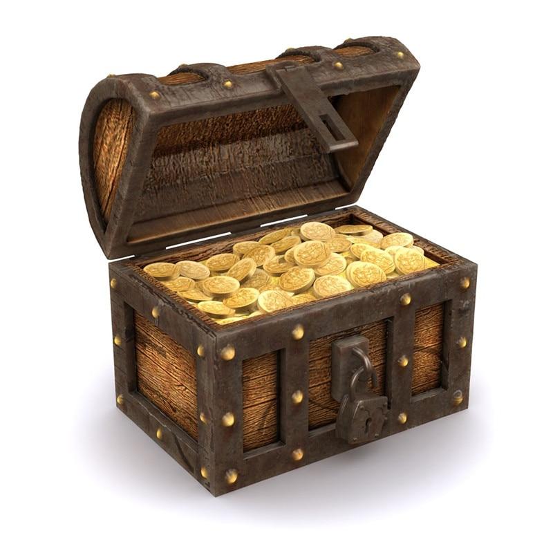 100pcs Plastic Gold Treasure Coins Captain Pirate Party Favors