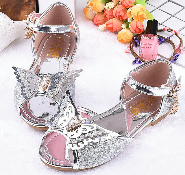 877020e81bb US $14.6 30% OFF|2018 Summer Kids Girls Sandals Bowtie Party Dancing  Children Princess Sandals Leather Shoes High Heels Shoes For kids  childrens-in ...