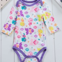 triangle long sleeved baby climb cotton jumpsuit autumn