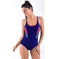Faerdasi 2017 New One Piece Swimsuit Sports Suits Brand Swimwear Women Sexy Patchwork Backless Bodysuits Swimming