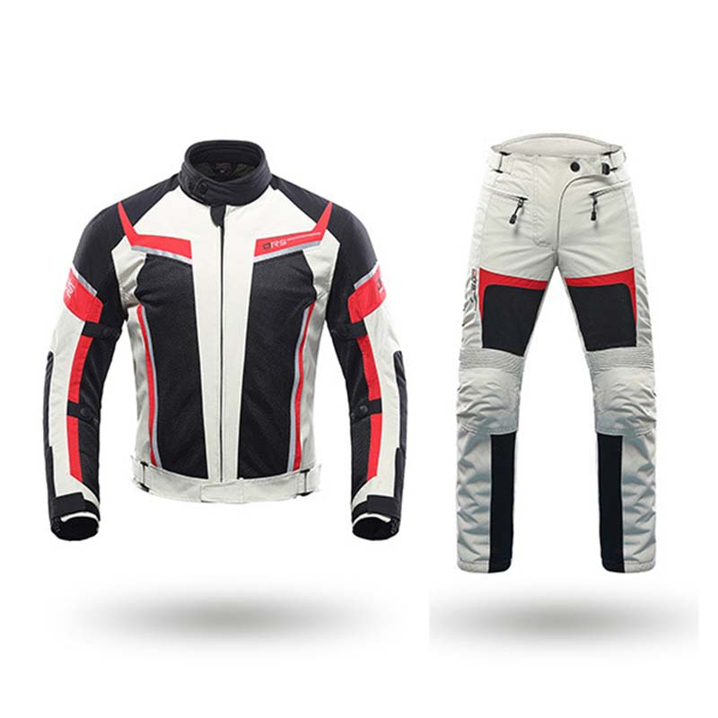 DUHAN Motociclo degli uomini di Giubbotti Motocross Abbigliamento Moto Pantaloni Moto Giacca Protector Gear Pantaloni Vestiti Con CE