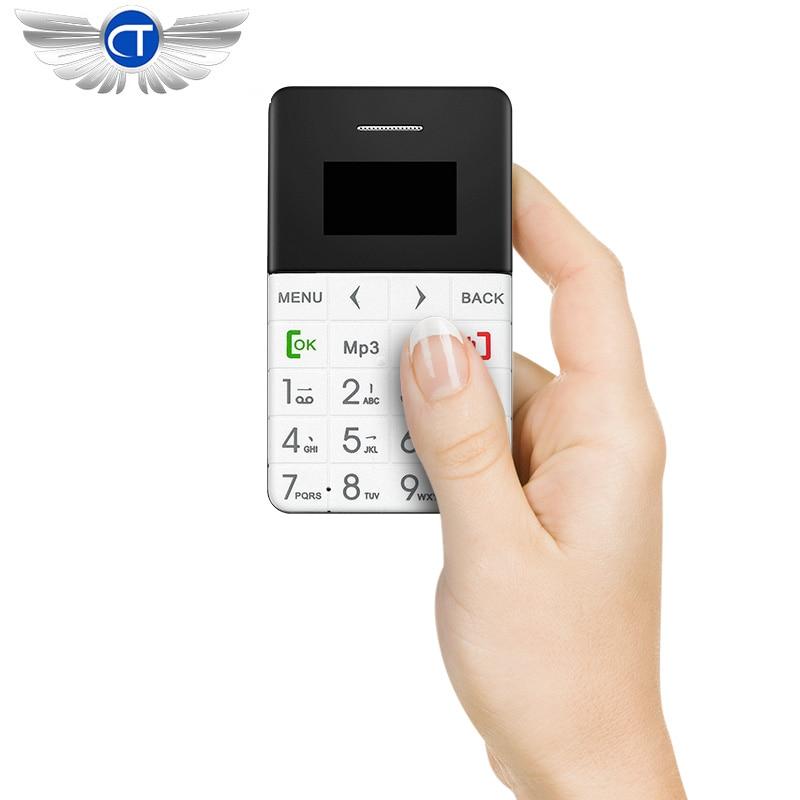 10 unids/lote original qmart ultra thin aiek tarjeta q5 teléfono móvil bolsillo