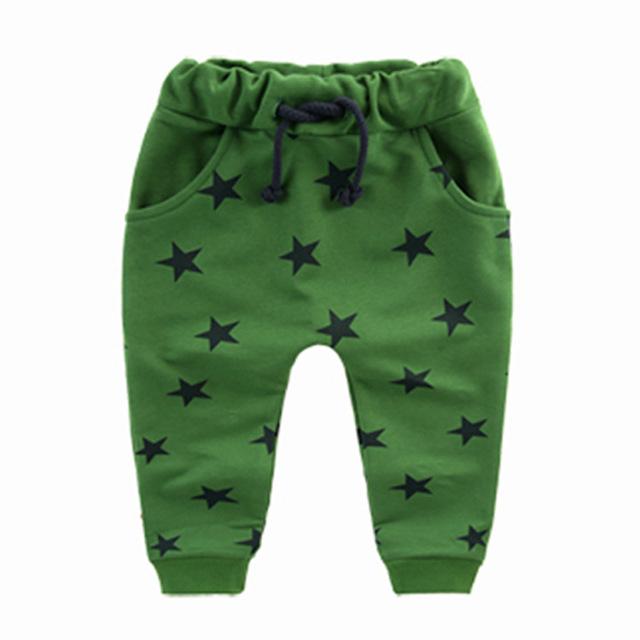 MRJMSL Hot sale children pants for baby boys trousers kids harem pants Size70~140  star fashion grey blue black 2017