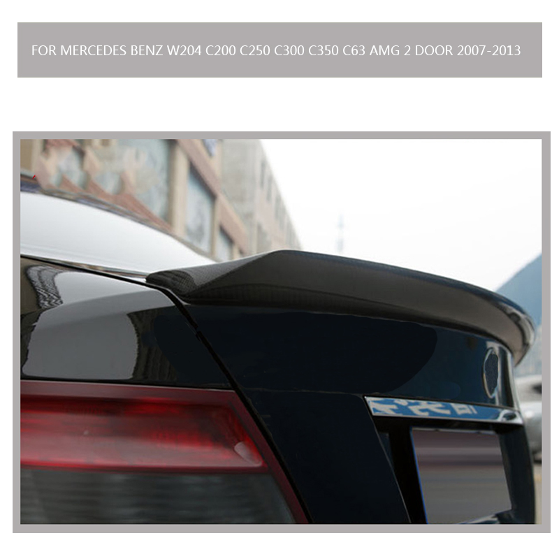 V Stil W204 Carbon fiber spoiler for Mercedes Benz W204 C200 C250 C300 C350 C63 AMG 2 door 2007-2013 mercedes carbon fiber trunk amg style spoiler fit for benz e class w207 2 door 2010 2015 coupe convertible vehicles