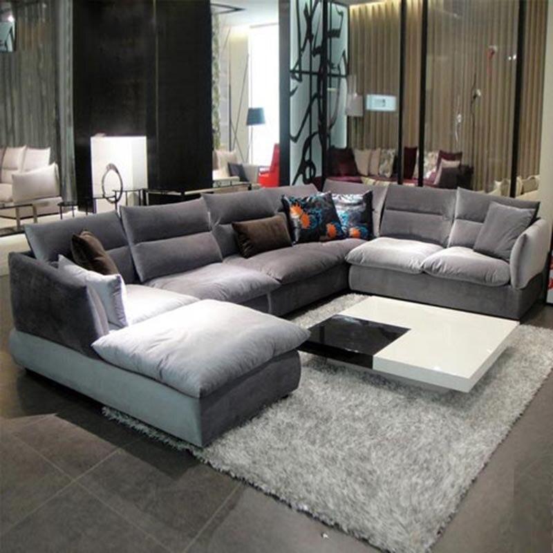 Простой и современные ткани диван сочетание мебели для гостиной моющиеся ...