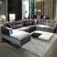 Простой и современные ткани диван сочетание мебели для гостиной моющиеся
