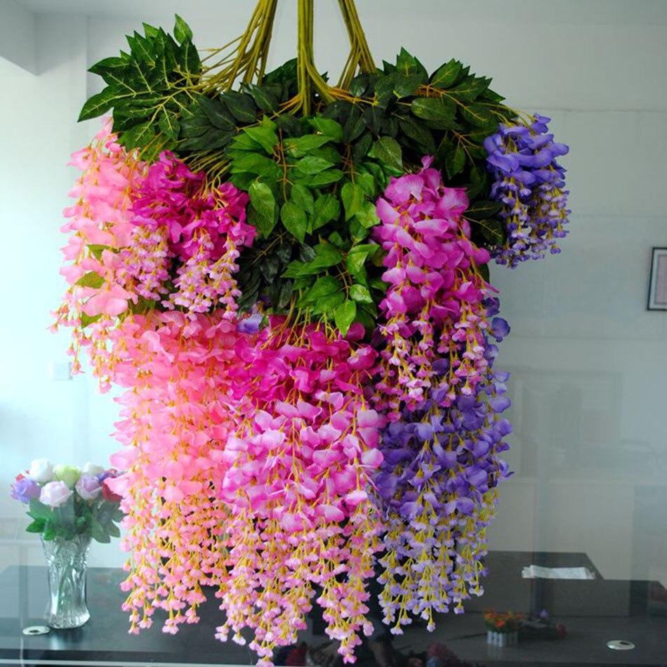 Aliexpress Buy 110cm Silk Ivy Vine Flowers Artificial Fake