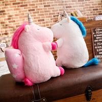 50cm Cute Unicorn Plush Toy Doll with Blanket Soft Animal Horse Toy Stuffed Unicorn Unicornio Peluche Toys For Kids Girls Gift