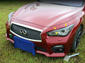 Accessories For INFINITI Q50 ABS Front Headlight Head Light Lamp Eyelid Cover Trim 2 Piece / Set