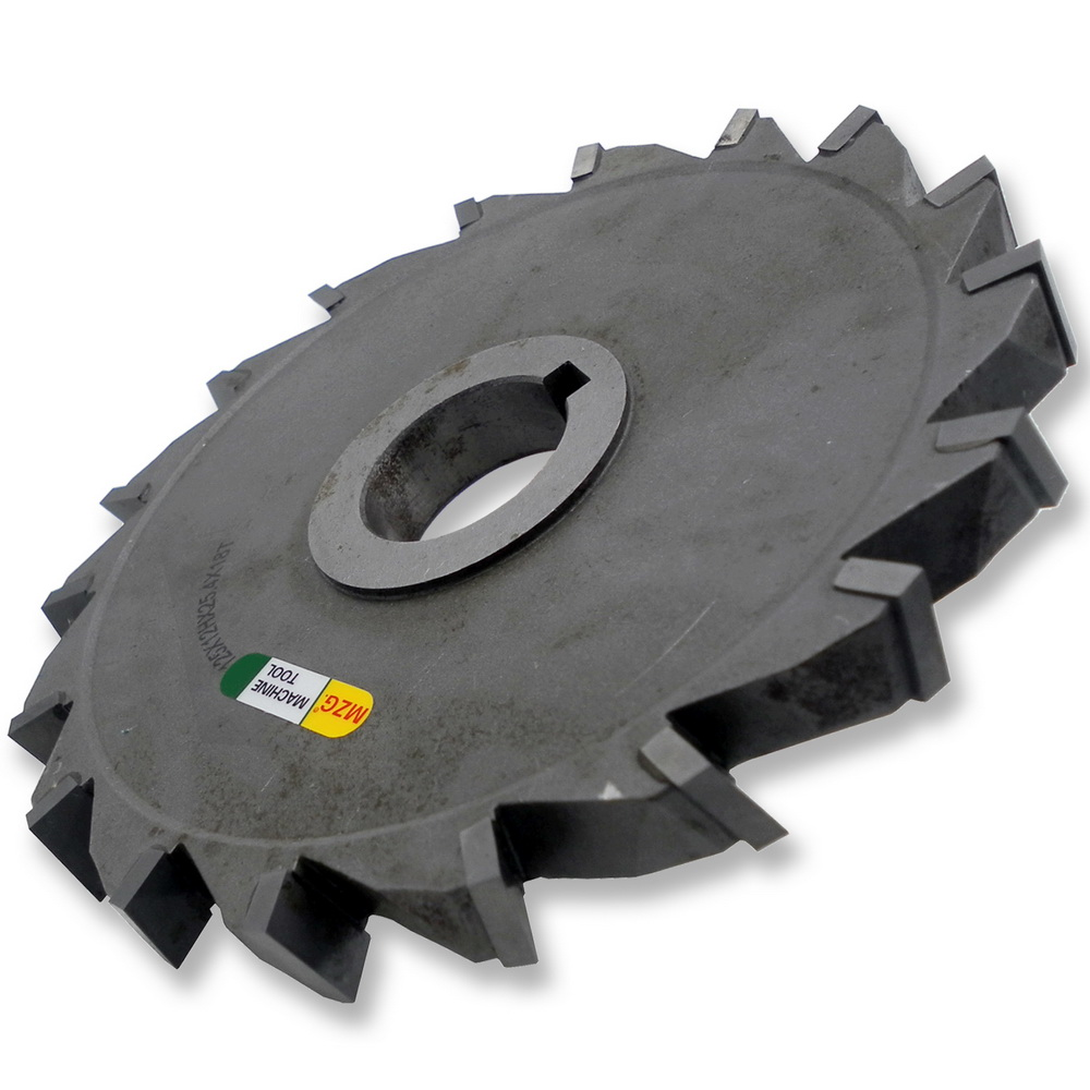 MZG Cutting Wrong-Tooth 75-200mm Welding Edge Type Tungsten Steel Side Milling Cutter, T-groove Milling Cutter Processing