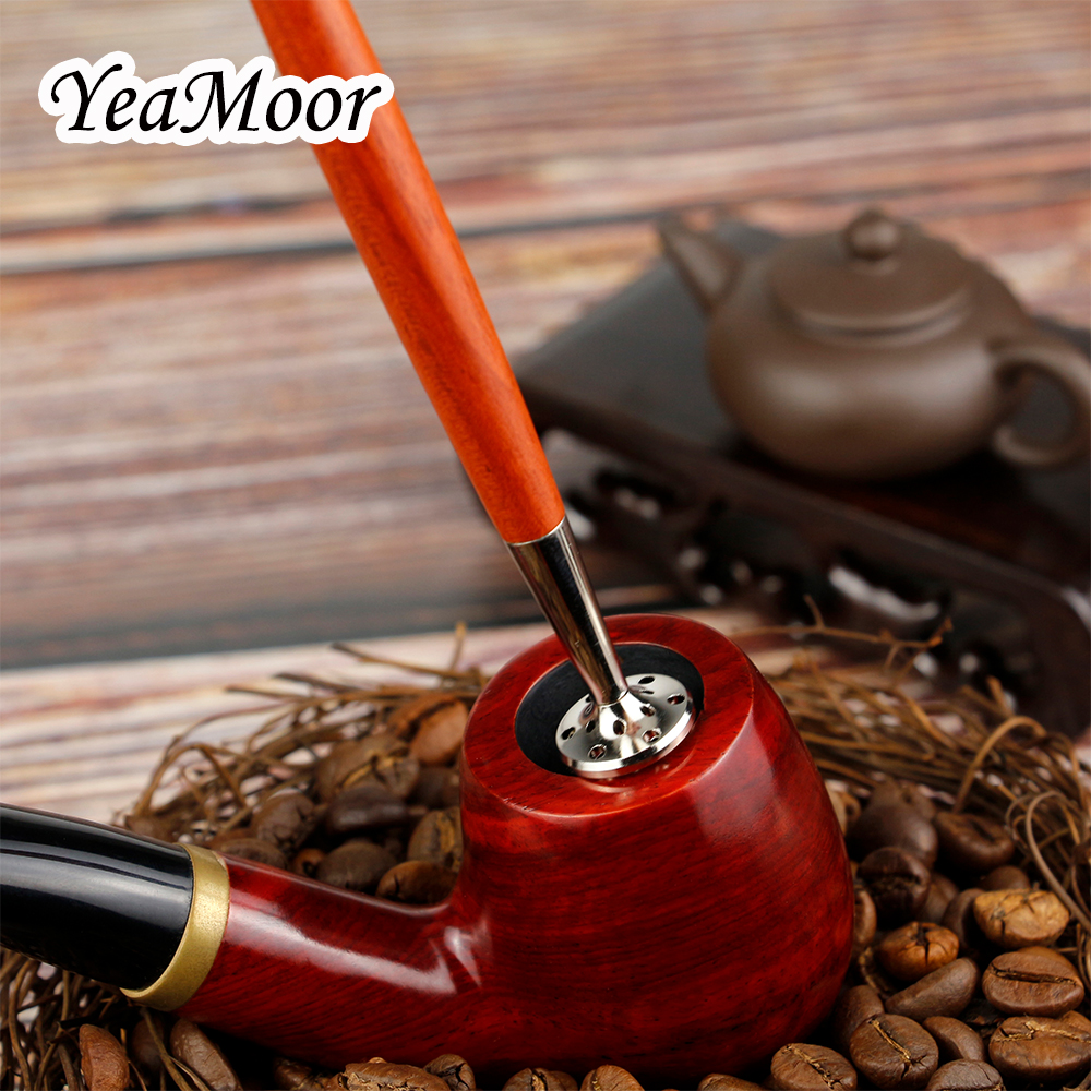 New Stainless Steel Tobacco Tamper Multifunction Wood Smoking Tools For Loose And Tamp Straight Tobacco Pipe Presser