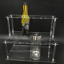 Acrylic 8 Holes Bottle Storage Rack Holder Jewelry Craft Display Stand
