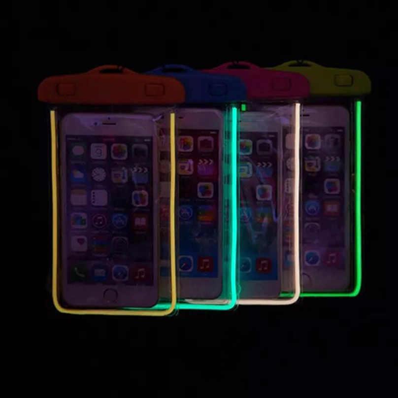 Universal กระเป๋าโทรศัพท์กันน้ำสำหรับ Letv LeEco Le One Le 1 Letv Le1 X600 ว่ายน้ำดำน้ำโปร่งใสกระเป๋ากรณีส่องสว่าง