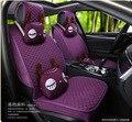 2016 new arrival female flax 5 pieces / set car seat covers four season women deer cartoon version car seat cover cushion