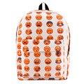 Fashion Women Men Multi Emotion Canvas Backpack Causal Shoulders School Book Bag Large Capacity Travel Rucksack 2016 Hot Sale