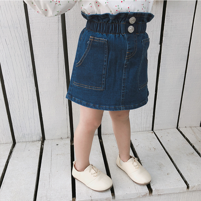 NEW Fashion Retro 80/' Kids Girl Children Chic High Waist Denim Jeans Pants 2-6yr
