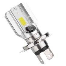 1 ud. DC12V H4 LED motocicleta faro bici blanca bombilla de luz antiniebla lámpara de ahorro energético 6 20W 77x42mm sin cables