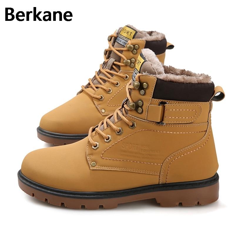 29ed0e82845 Botas militares para hombre botas militares del desierto zapatos de madera  para hombre Botas de cuero impermeable al aire libre Martin invierno 2019  cálido ...