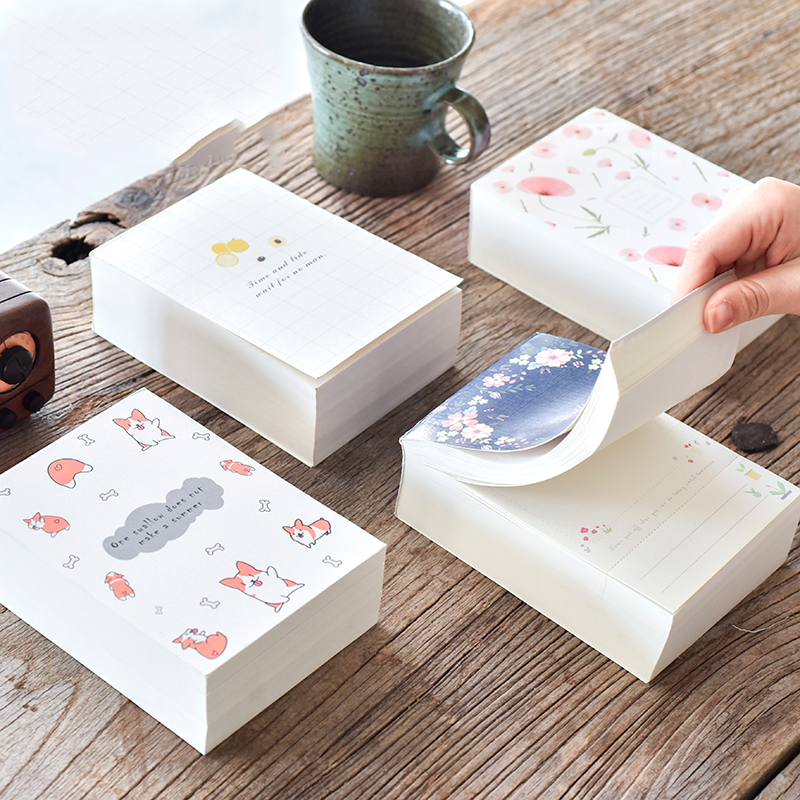 Super Thick Memo Pad 375 Sheets Memo Notes School Office Supplies Stationery No Adhesive Scratch Pad Notepad 2018 pet transparent sticky notes and memo pad self adhesiv memo pad colored post sticker papelaria office school supplies