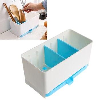 Utensilios titular Rack dulces esponja cesta de lavado en seco de cubiertos  escurridor Sink Tidy organizador de herramientas de cocina 2f68f0ee7ed3