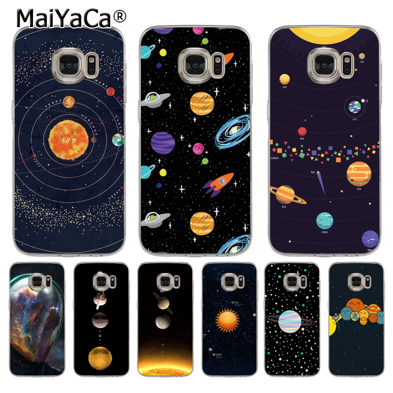 Maiyaca Planet Simple Pattern Space Eclipse Of The Moon Lovely Soft Tpu Phone Case For Samsung Galaxy S5 S6 S7 S8 S9 Phone Bags & Cases Cellphones & Telecommunications