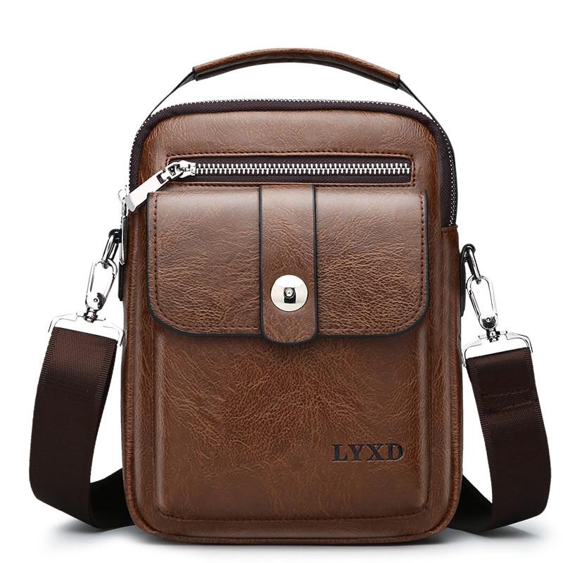 2019 New Arrival Vintage PU Leather Casual Bag Designer Crossbody Bag Men High Quality Messenger Fashion Travel PU Leather Bag