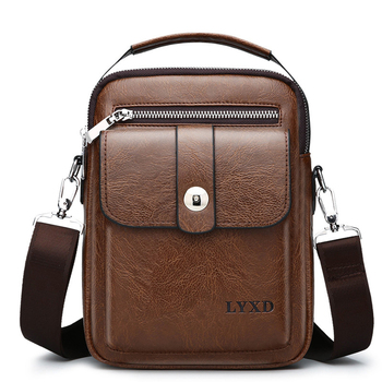 New Arrival Vintage PU Leather Casual Bag Designer Crossbody Men High Quality Messenger Fashion Travel