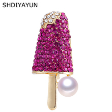 SHDIYAYUN 2019 New Pearl Brooch Ice Cream Brooch For Women Lovely Brooch Pins Natural Freshwater Pearl Jewelry Accessories Gift цена и фото