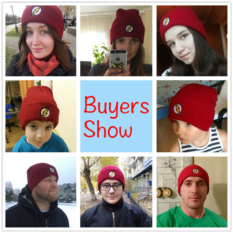 f894522f09f ... CLIMATE Man Hat Men Women Beanie for Teenager Men Warm Beanies Winter  Flash Red Cap Hat ...