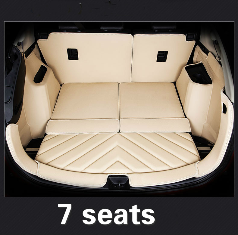 5D rugs customized full covered waterproof durable cargo carpets special car trunk mats for Mitsubishi Outlander 5 seats 7 seats