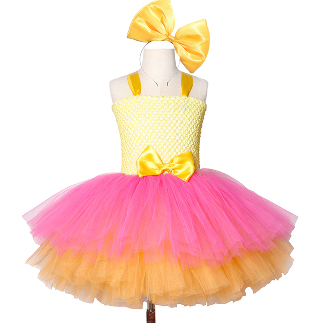 Girls Lol Tutu Dress Cute Princess Cartoon Doll Girl Birthday Party Dress for Kids Girl Christmas Halloween Lol Cosplay Costume