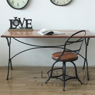 new american country french country style desk vintage industrial exports decorative wrought iron table desk american retro style industrial furniture desk