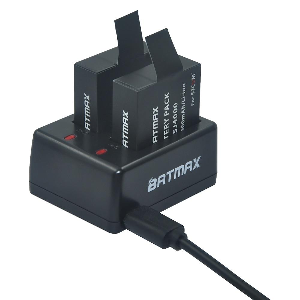 2Pcs SJ4000 Battery Rechargable Battery + Dual Charger For SJCAM SJ4000 SJ5000 SJ5000X Elite WIFI pLUS Action Camera Accessories