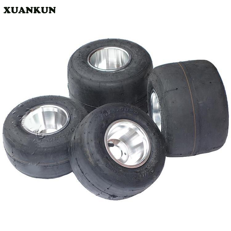 XUANKUN Drift Car Three Round Four Karting Vacuum Tires 11 * 7.10-5 10 * 4.50-5 Inch Tires Plus Wheels aoxin new children s karting four wheel exercise can sit baby pneumatic tires exercise bike