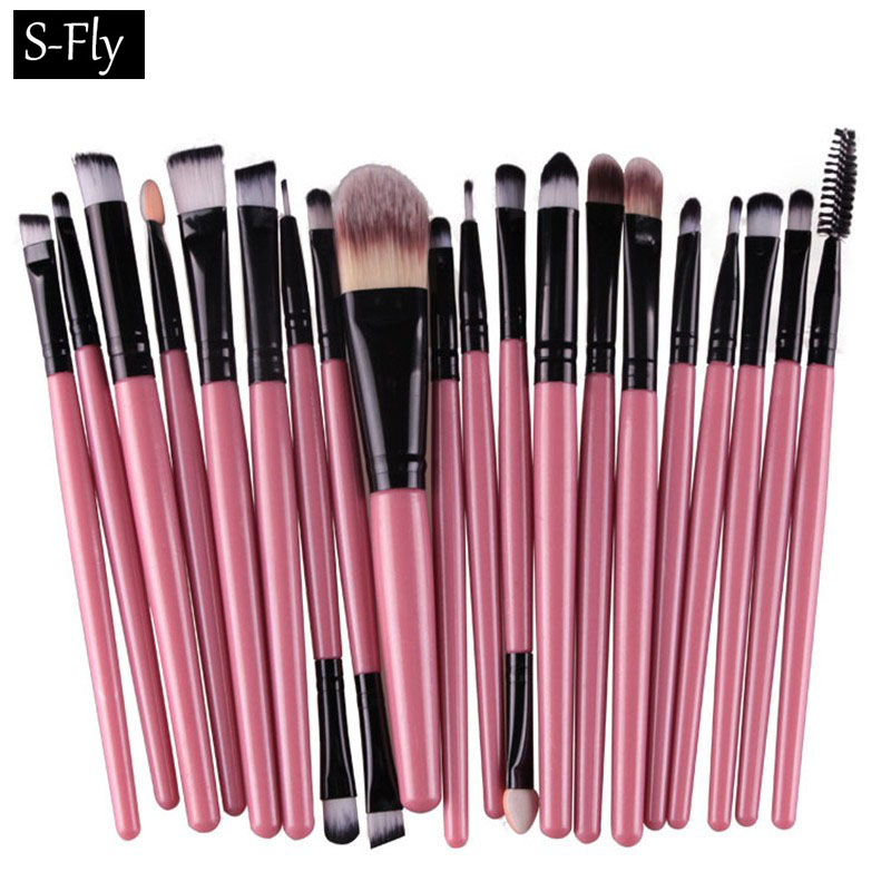 20PCS Makeup Brushes Set Tool Kit Foundaton Mascara Lip Eyeshadow Brushes Eyebrow Make Up Brush Set Styling Pincel De Maquiagem 1 4pcs cosmetic makeup brushes set eyebrow eyeliner eyelashes lip makeup brush kits eyeshadow blush brushes pinceis de maquiagem