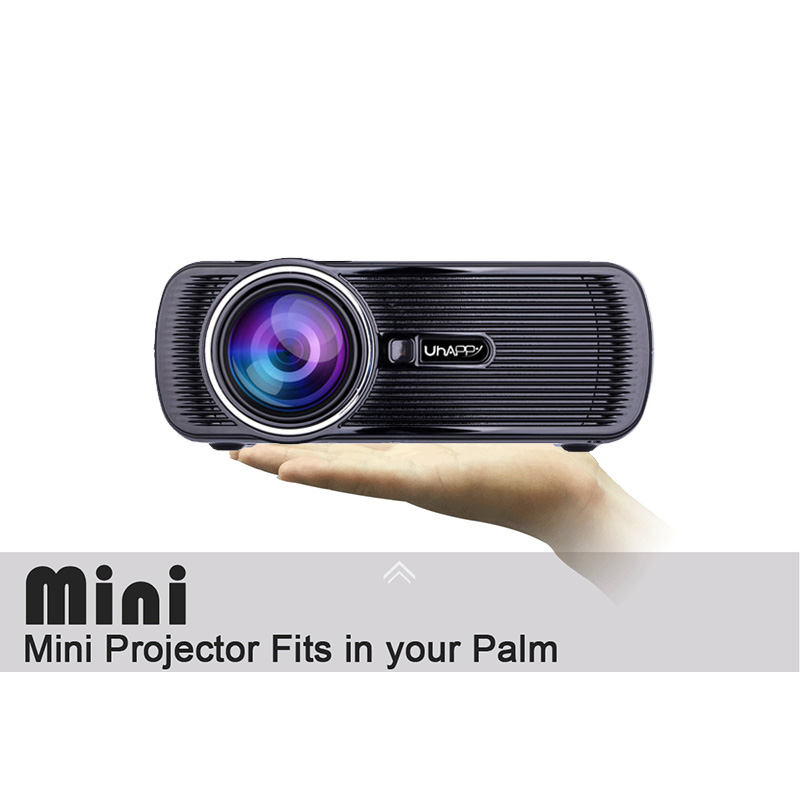 UHAPPY U80 Plus Projector 1080P LED HD Mini Projector Support 4 Types Plug Choose EU/UK/US/AU Plug for ANDROID 6.0 System & WIFI