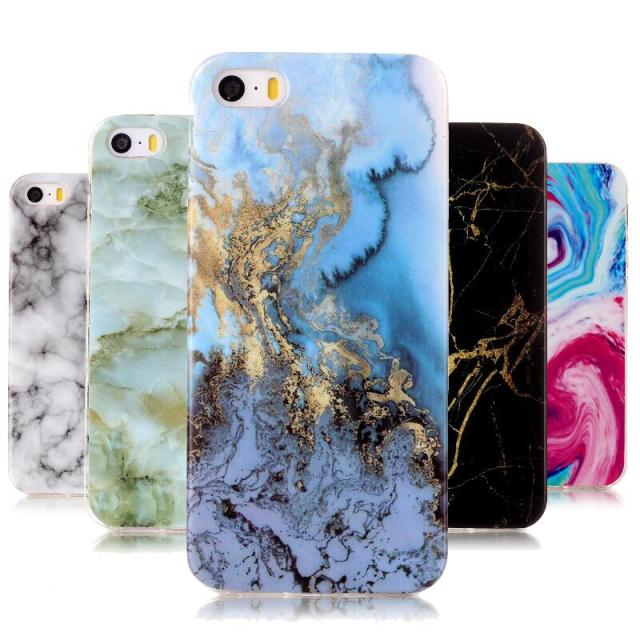 Marble Stone Case sFor Coque Apple iPhone 5 5G 5s SE Soft TPU Rubber Back Cover Phone Case for Capa Apple iPhone5 S E